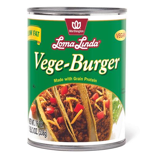 Vege-Burger 19 oz Vegan/Low Fat