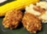 Chik'n Croquettes with Mushroom Gravy