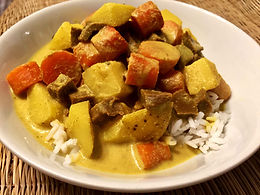 Vegetable Steaks Curry