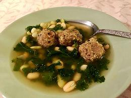 Vegetarian Italian Sausage Meatball Soup