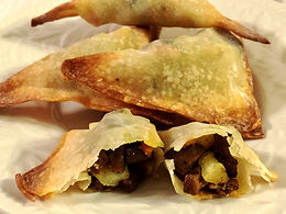 Vege-Steak Samosas