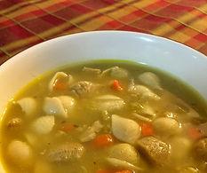 Chik'n & Pasta Shell Soup
