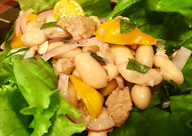 Fishless Tuna and Bean Salad
