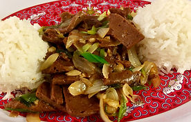 Vege-Steak Mongolian Beef