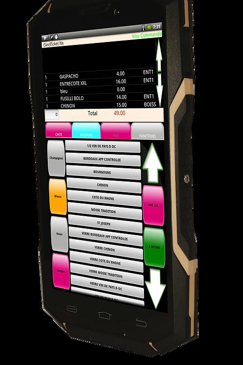 Punto de venta mesero móvil, Tableta KSD 5.5 de Uso Rudo