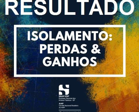 Resultado da exposição virtual Isolamento: Perdas & Ganhos
