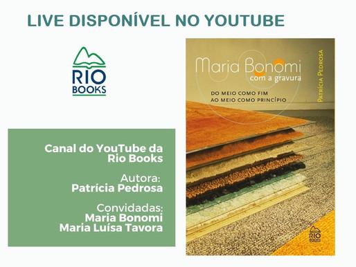 Maria Bonomi é tema de livro de Patricia Pedrosa e tem live de lançamento disponibilizada no youtube