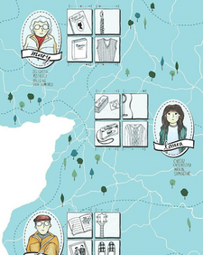 Illustrated South West Map by Laura Tubb