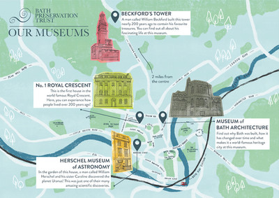 Bath Preservation Trust Map by Laura Tubb