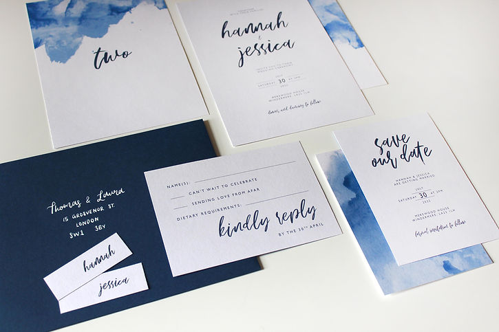 Navy Wedding Stationery by White Tulip Designs