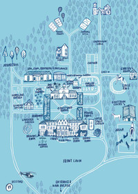 Lucknam Park Illustrated Map by Laura Tubb