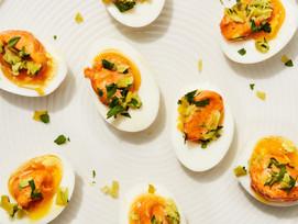 #Receta: huevos duros con mayonesa de páprika