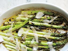 #Receta: Espárragos al horno con balsámico y parmesano (4)