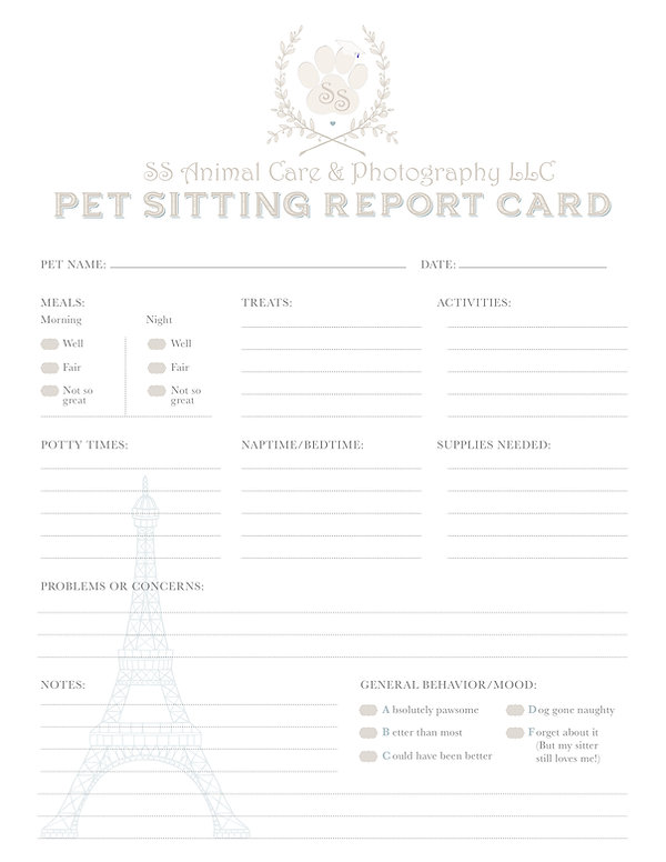 PetSitting Report Card Modified Design b