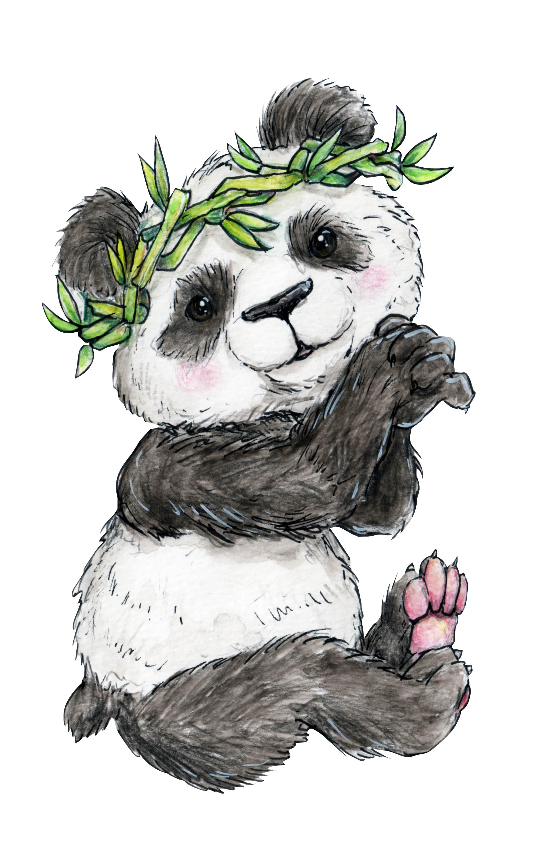 PandaWithWreathShare