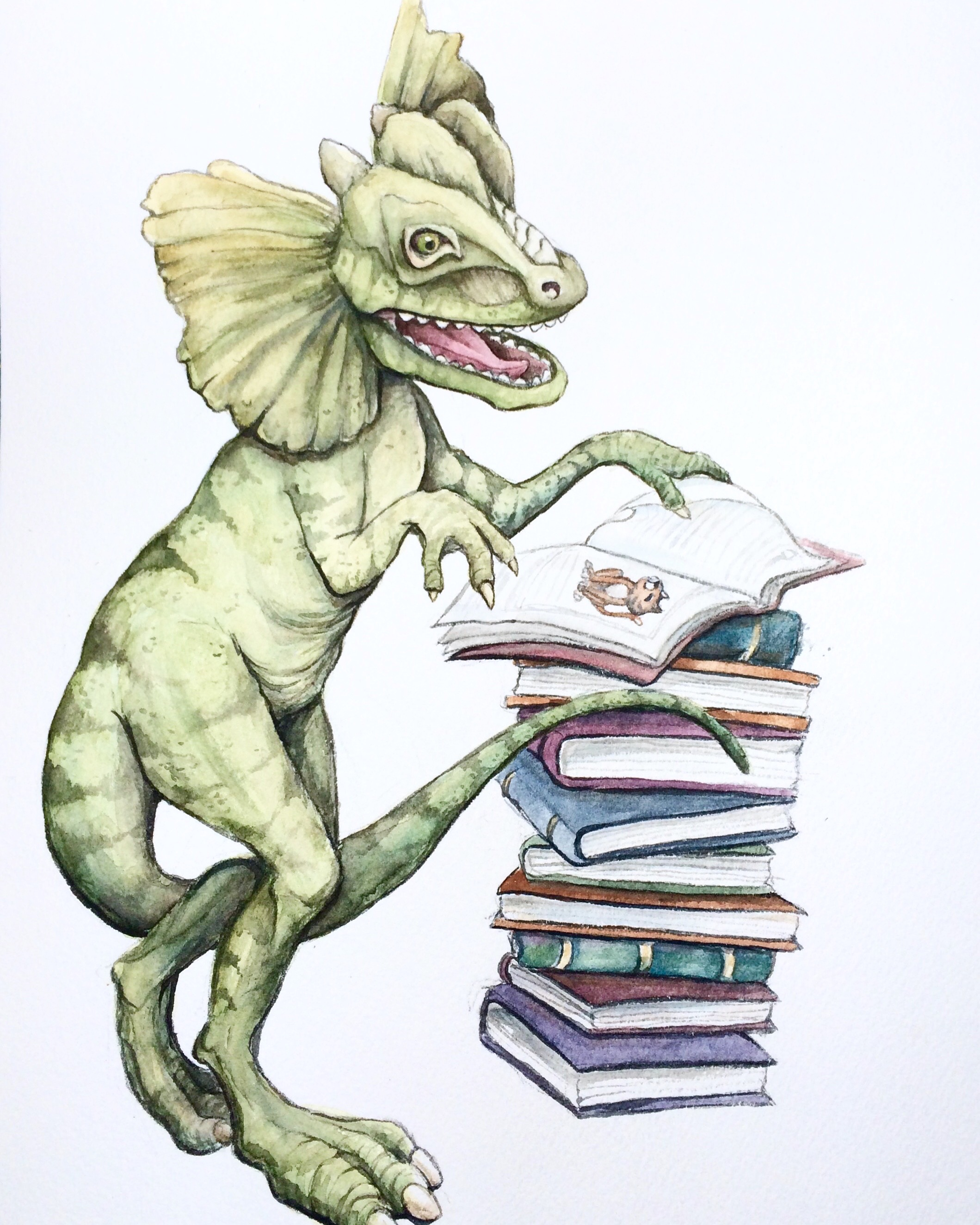 Dilophosaurus Loves Books