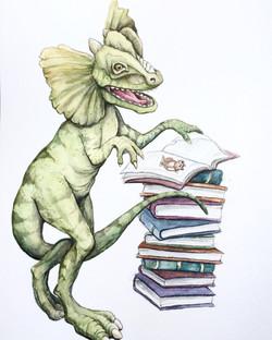 Dilophosaurus Loves Books