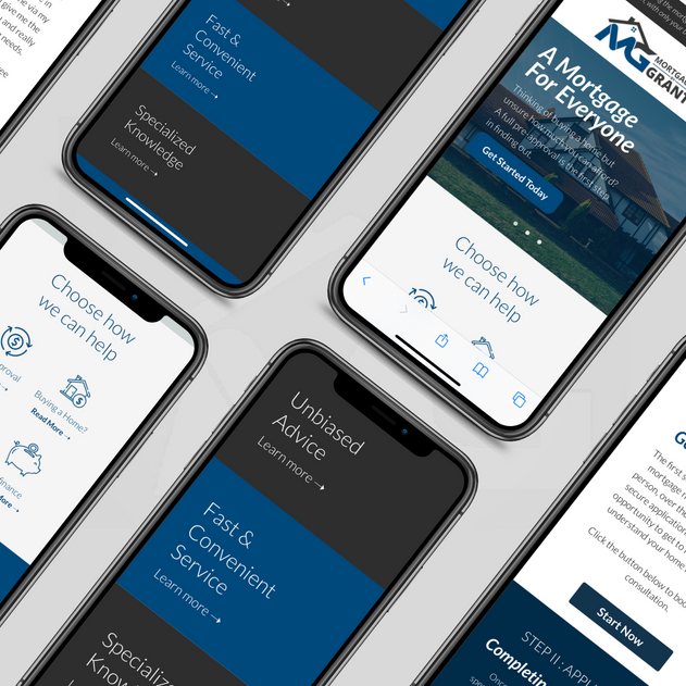 Mortgages By Grant, Web Design & Identity