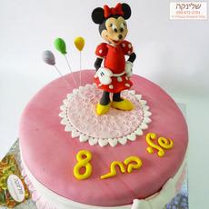 עוגת מיני מאוס מבצק סוכר