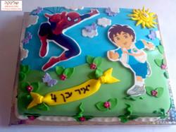 spiderman-and-digo-cake