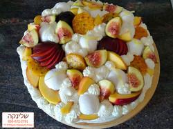 עוגת גבינות עם פירות