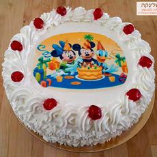 עוגת מיקי ומיני מאוס מקצפת