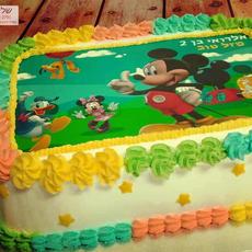 עוגת מיקי מאוס מצויירת