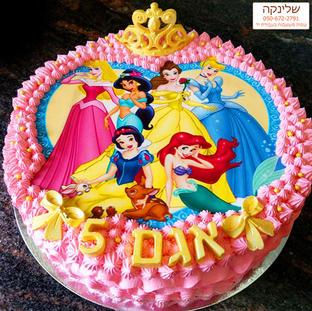 לחצו כאן לעוד עוגות נסיכות דיסני