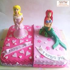 עוגת נסיכה בת הים הקטנה