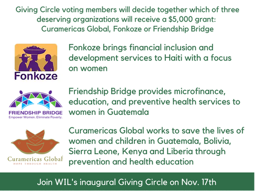 WIL's First Virtual Giving Circle - Your Vote Counts!