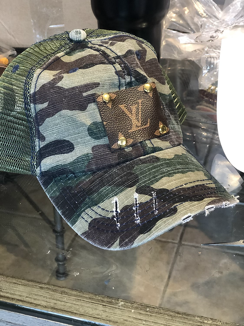 Camo LV hat
