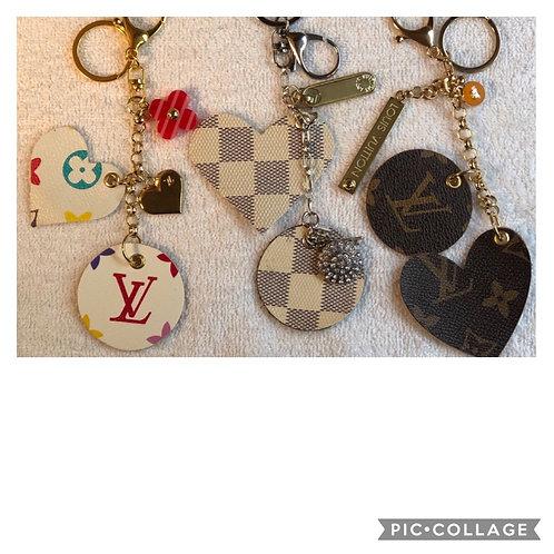 LV Logo Heart/Circle key chain