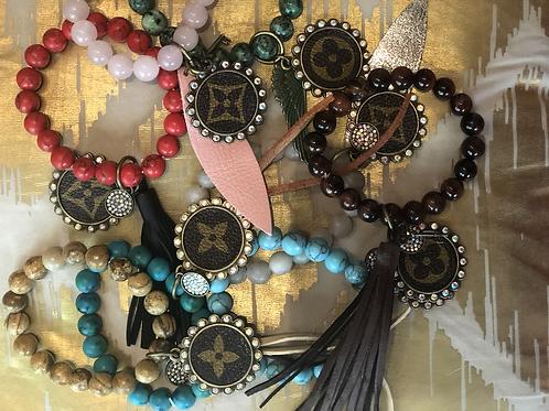 Semi precious bead bracelets