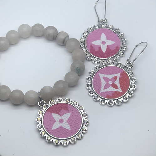 Louis Vuitton bracelet/earring set