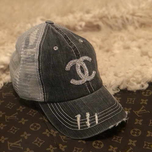 Distressed CC hat