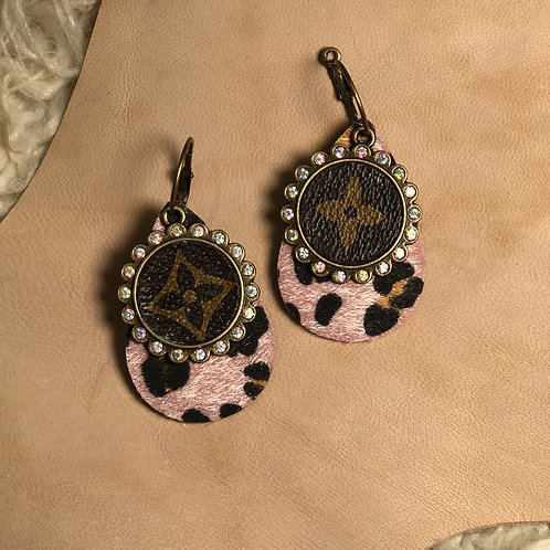 Pink LV earrings