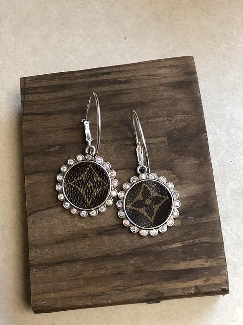 LV Iridescent hoop earrings