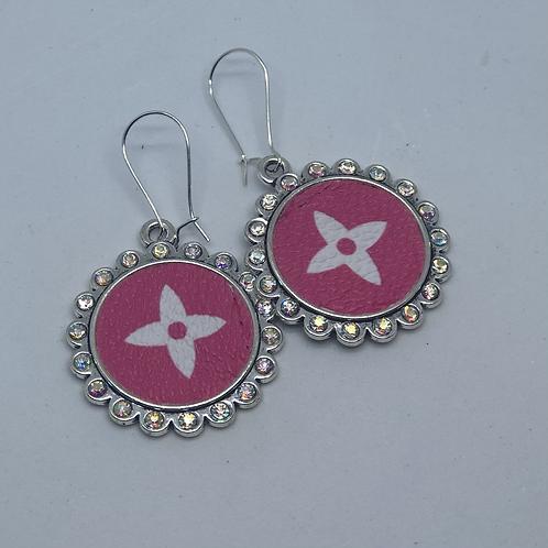 Pink iridescent earrings