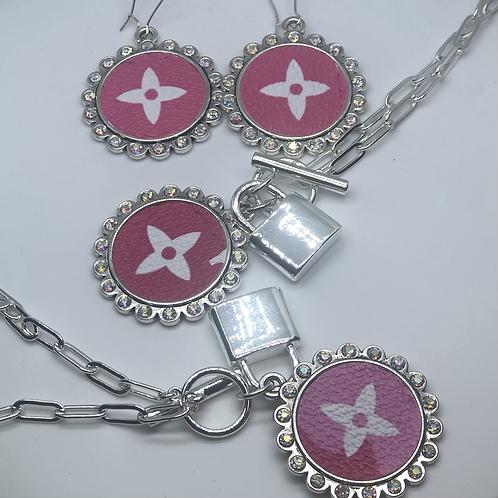 Louis Vuitton earring/necklace/bracelet set