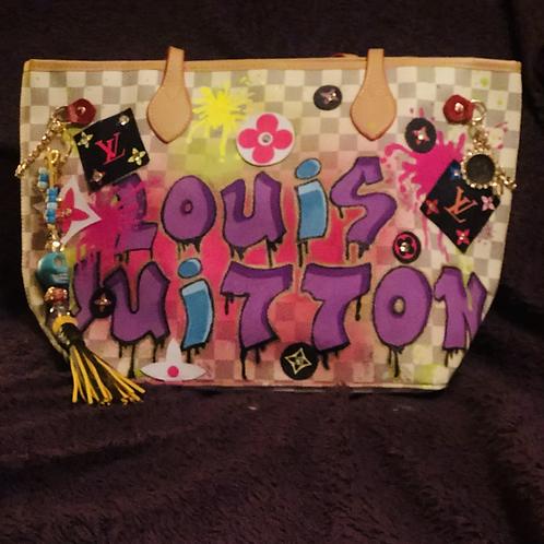 Hand Painted Louis Vuitton bag