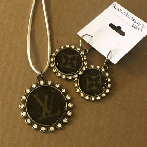 LV earring and necklace set