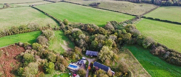 Arial veiw of Manor Bottom and The Granary holiday rental