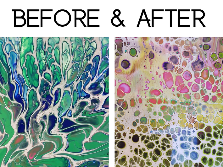 Before and after taking online art course