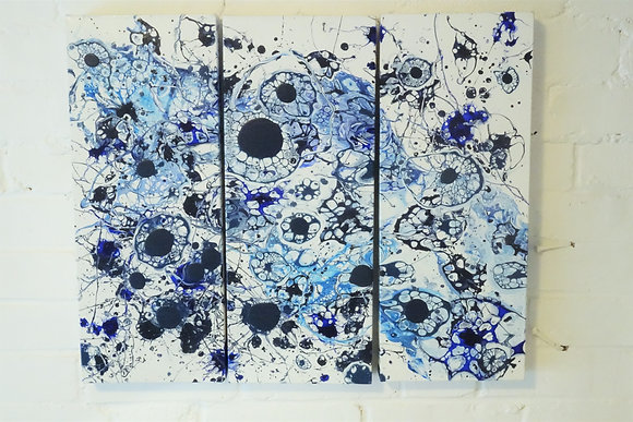 Frosted Blues - Triptych