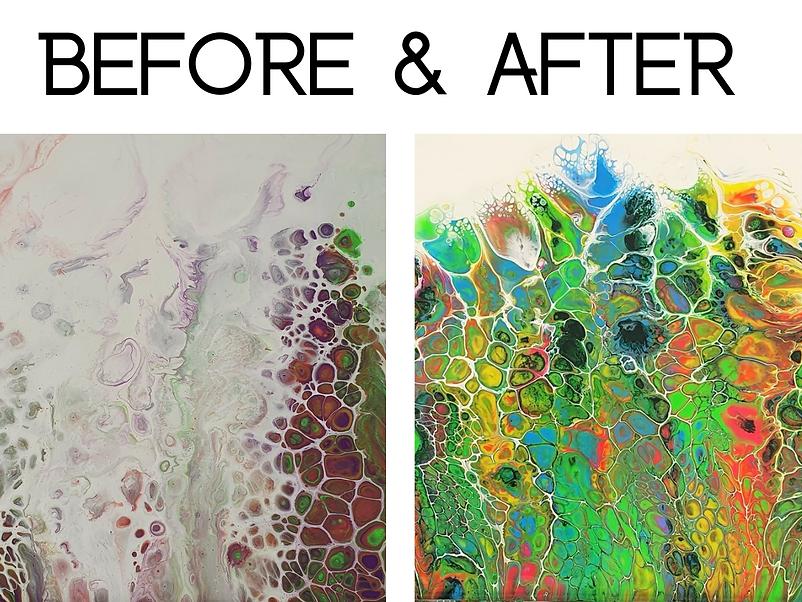 Learn how to create fluid pour art
