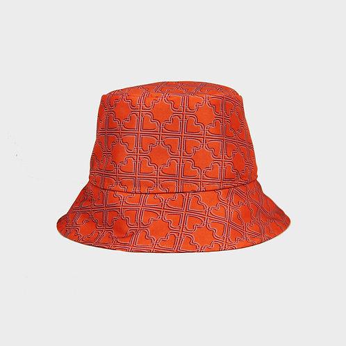MONOGRAMME BUCKET HAT / ORANGE