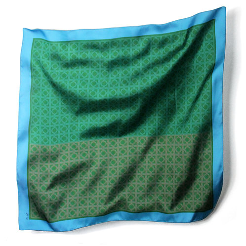 MONOGRAMME SCARF - L / GREEN BLUE ORANGE