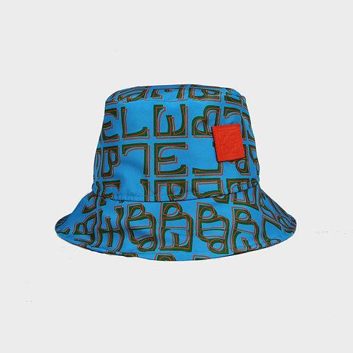 ALPHABET BUCKET HAT / BLUE