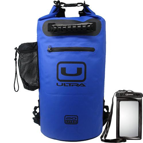 ULTRA Waterproof Dry Bag 20L - Blue - Medium