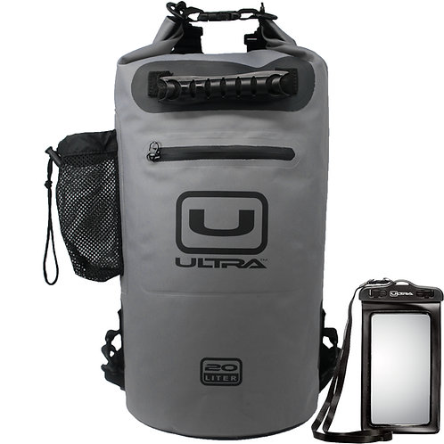 ULTRA Waterproof Dry Bag 20L - Grey - Medium